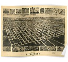Panoramic Maps Bird's eye view of Fitzgerald Georgia 1908 Poster