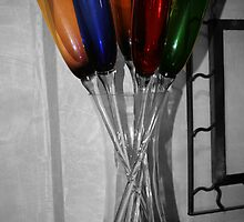 Colored Champagne Flutes by arr333