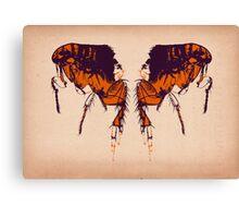 Back To Back Fleas Canvas Print