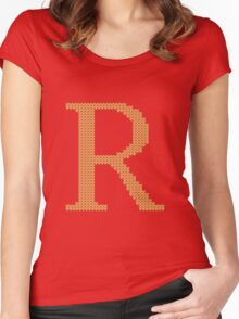 Weasley Sweater Letter R Women's Fitted Scoop T-Shirt