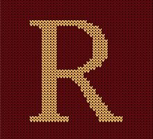 Weasley Sweater Letter R by DesignsByAND