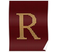 Weasley Sweater Letter R Poster