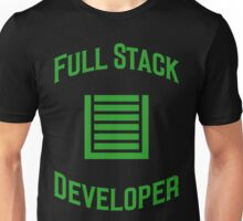 Full Stack Developer - Design for Web Developers Green Font Unisex T-Shirt