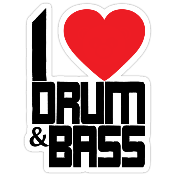 I Love Drum & Bass (black) by DropBass