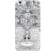 Green Girl Black and White iPhone Case/Skin