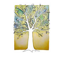 Watercolor Tree Photographic Print