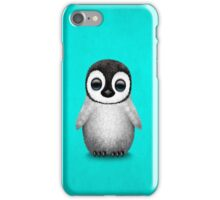 Cute Baby Penguin on Blue iPhone Case/Skin