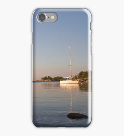 At anchor on a summer night. iPhone Case/Skin