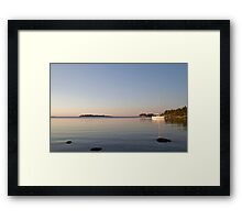At anchor on a summer night. Framed Print