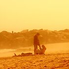 Couple at SunSet by GalleryThree