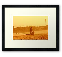 Couple at SunSet Framed Print