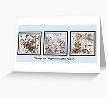 Grunge Art Tryptich Greeting Card
