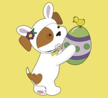 Cute Puppy Easter Egg Baby Tee