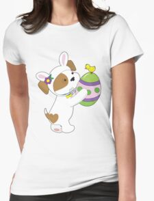 Cute Puppy Easter Egg Womens Fitted T-Shirt