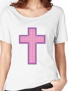 Heart Cross Women's Relaxed Fit T-Shirt