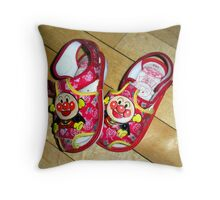 """Kid's Shoes.   Sole Mates!"" Throw Pillow"