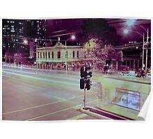 Ghost Tram, Swanston Street, Carlton Poster