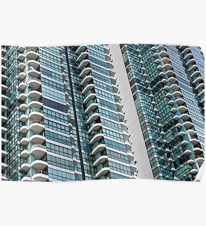 Apartment building. Poster