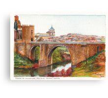 Puente De Alcantara, Rio Tajo, Toledo Canvas Print