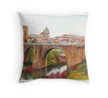 Puente De Alcantara, Rio Tajo, Toledo Throw Pillow