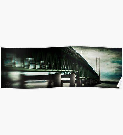 South Side Mackinac Bridge Poster