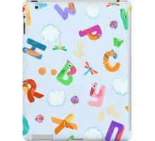 Seamless pattern from letters like birds iPad Case/Skin