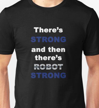 Robot Strong White Unisex T-Shirt