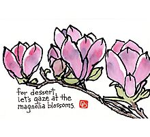 Magnolia Blossoms for Dessert Photographic Print