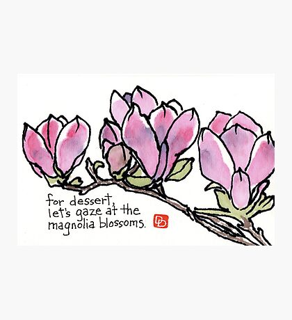 Magnolia Blossoms for Dessert Photographic Print