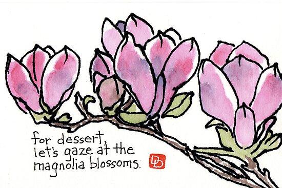 Magnolia Blossoms for Dessert by dosankodebbie