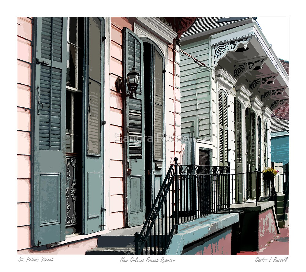 St. Peter Street / French Quarter by Sandra Russell