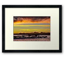 Sunset over the Edmonds Ferry Termimal Framed Print