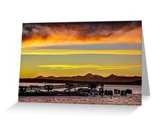Sunset over the Edmonds Ferry Termimal Greeting Card