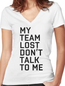 Team Lost Women's Fitted V-Neck T-Shirt