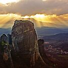 Rays of Meteora by sarahcronkphoto