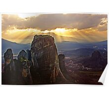 Rays of Meteora Poster