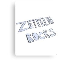 Zeppelin Rocks Canvas Print