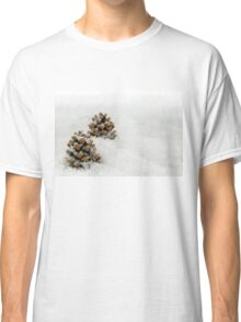 Fir Cones in a Snow Scene Classic T-Shirt