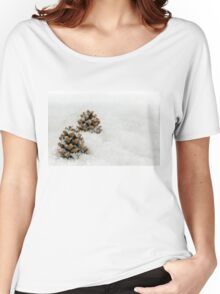 Fir Cones in a Snow Scene Women's Relaxed Fit T-Shirt