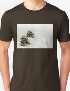 Fir Cones in a Snow Scene T-Shirt