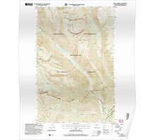USGS Topo Map Washington State WA Mount Barney 242475 2002 24000 Poster