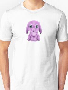 Cute Purple Baby Bunny Rabbit  Unisex T-Shirt