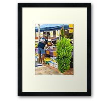 Green weight? Framed Print