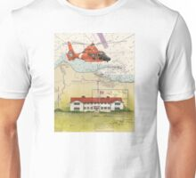 USCG Port Angeles WA Nautical Chart Cathy Peek Unisex T-Shirt