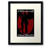 I Fall In Love With Fictional Characters- Gabriel Framed Print