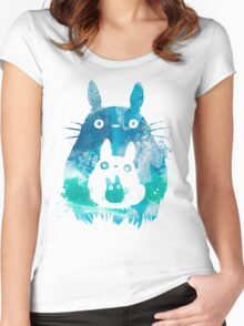 Totoro - Blue Sky Women's Fitted Scoop T-Shirt