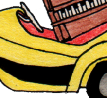 Yellow Car! (with piano bonus) Sticker
