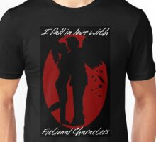 I Fall In Love With Fictional Characters- Gabriel Unisex T-Shirt