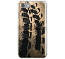 Rows of black chairs. iPhone Case/Skin
