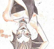 Batty Vampire Watercolor Painting by lysswhitart